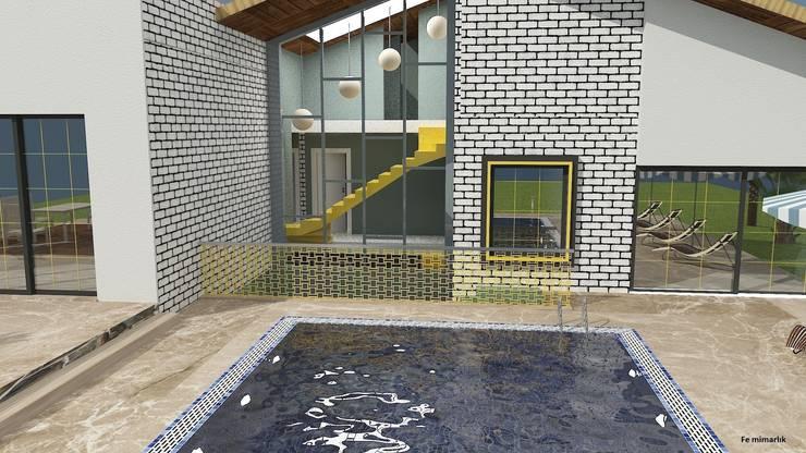 Fe mimarlık mühendislik ltd.şti. – Yeşik Kemer Villaları havuz:  tarz