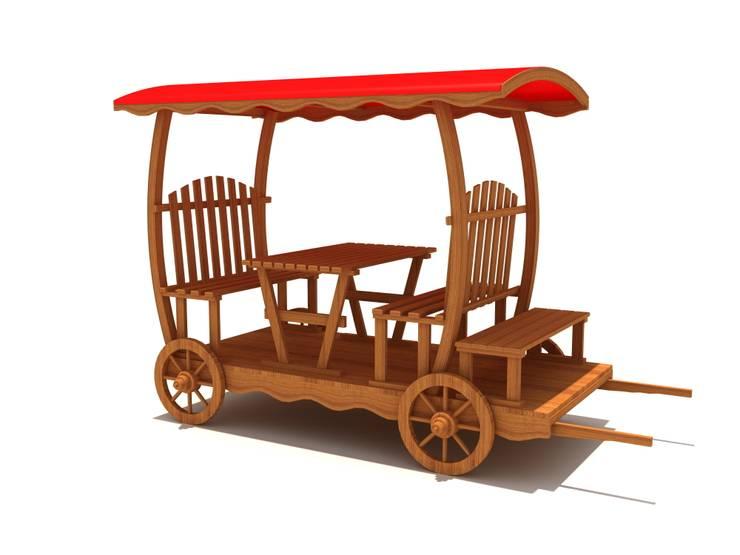 keban çocuk oyun parkları san tic – kamelya:  tarz Bahçe, Endüstriyel