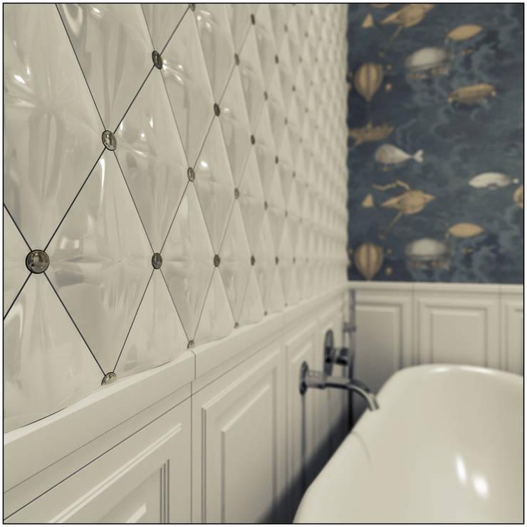 Mieszkanie z charakterem w IX-wiecznej kamienicy: styl , w kategorii Łazienka zaprojektowany przez 2k architektura,Eklektyczny