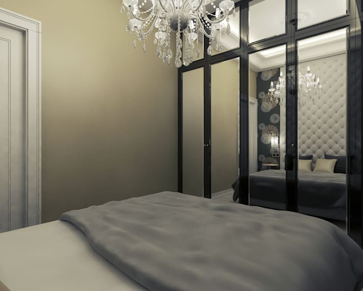 Mieszkanie z charakterem w IX-wiecznej kamienicy: styl , w kategorii Sypialnia zaprojektowany przez 2k architektura,Eklektyczny