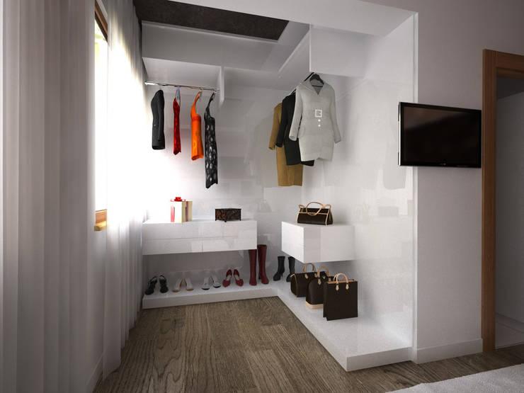 غرفة الملابس تنفيذ İNDEKSA Mimarlık İç Mimarlık İnşaat Taahüt Ltd.Şti.