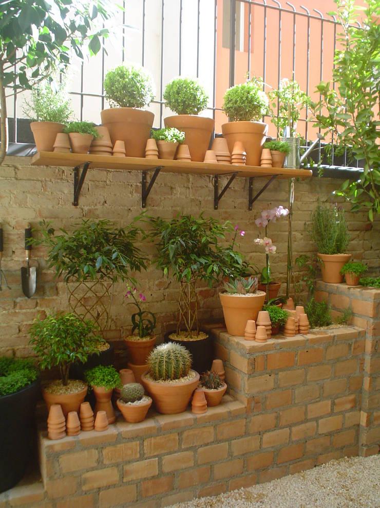 Garden by Línea Paisagismo.Claudia Muñoz, Modern