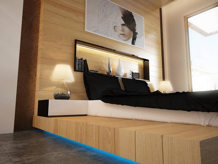 İNDEKSA Mimarlık İç Mimarlık İnşaat Taahüt Ltd.Şti. – İNDEKSA ÖRNEK DAİRE ÇALIŞMASI: modern tarz Yatak Odası