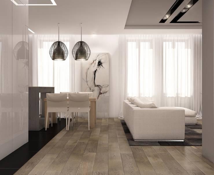 Лофт: Гостиная в . Автор – E_interior