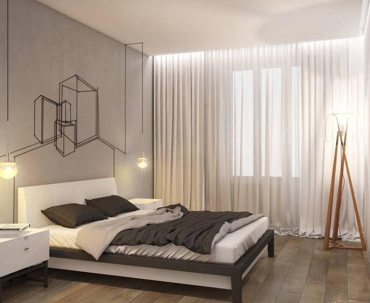Лофт: Спальни в . Автор – E_interior