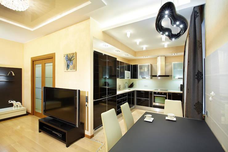Квартира, Санкт-Петербург, ул.Нахимова: Кухни в . Автор – студия дизайна интерьера 'Sreda Studio'