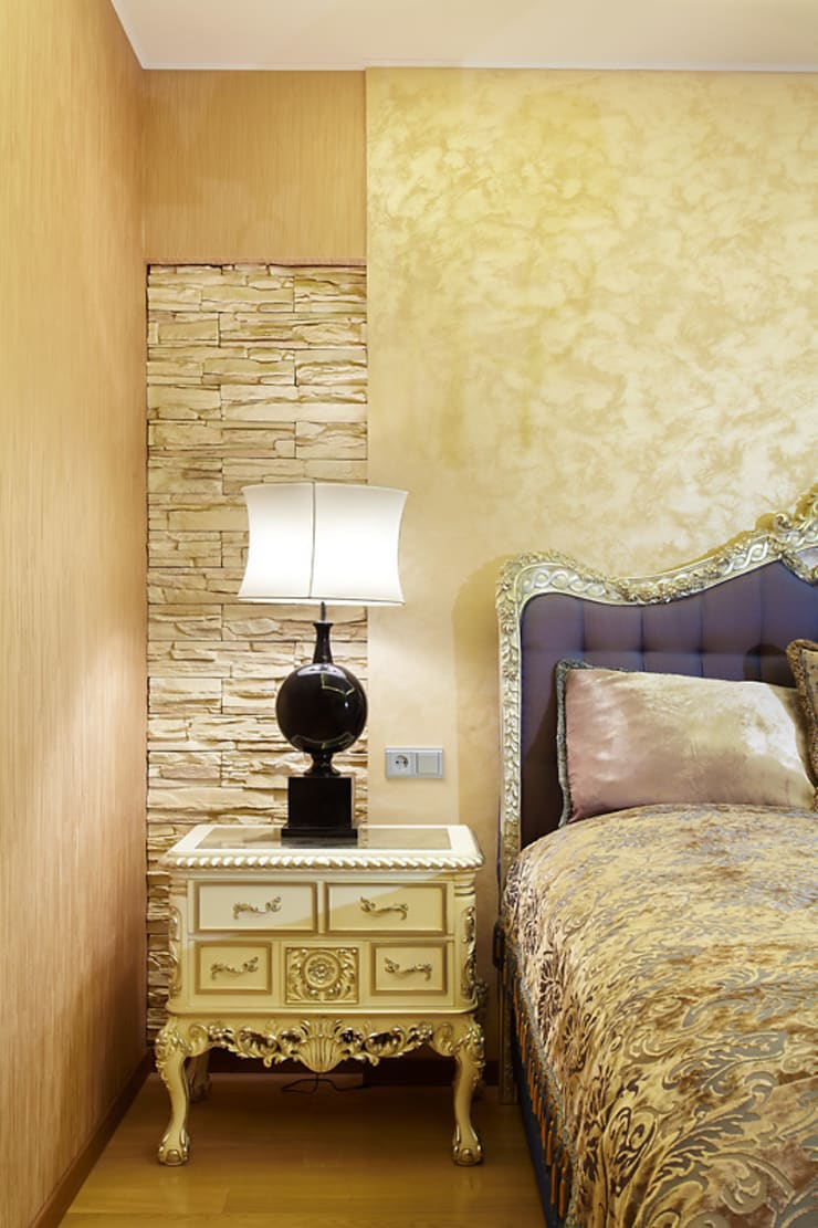 Квартира, Санкт-Петербург, ул.Нахимова: Спальни в . Автор – студия дизайна интерьера 'Sreda Studio'