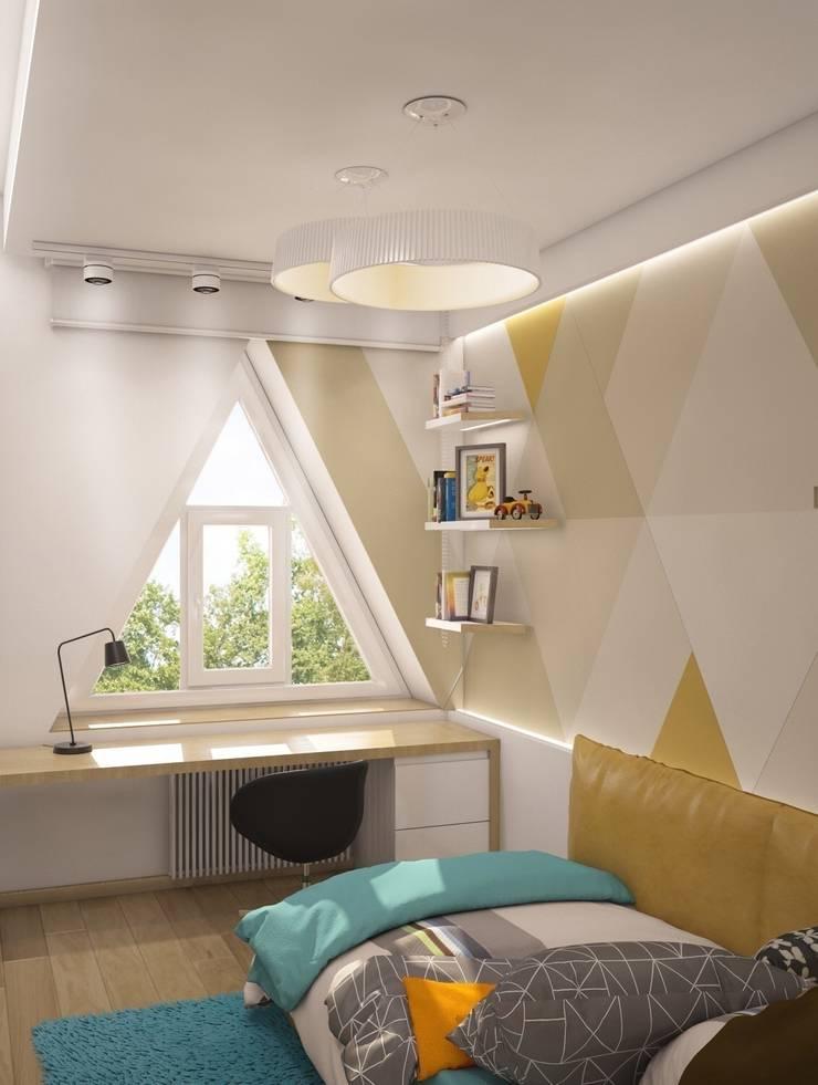 Triangle window: Детские комнаты в . Автор – E_interior