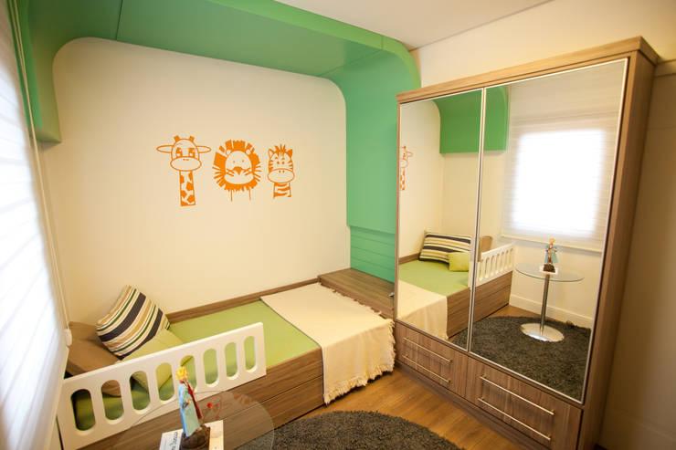 Interiores FF: Quarto de crianças  por Tartan Arquitetura e Urbanismo,