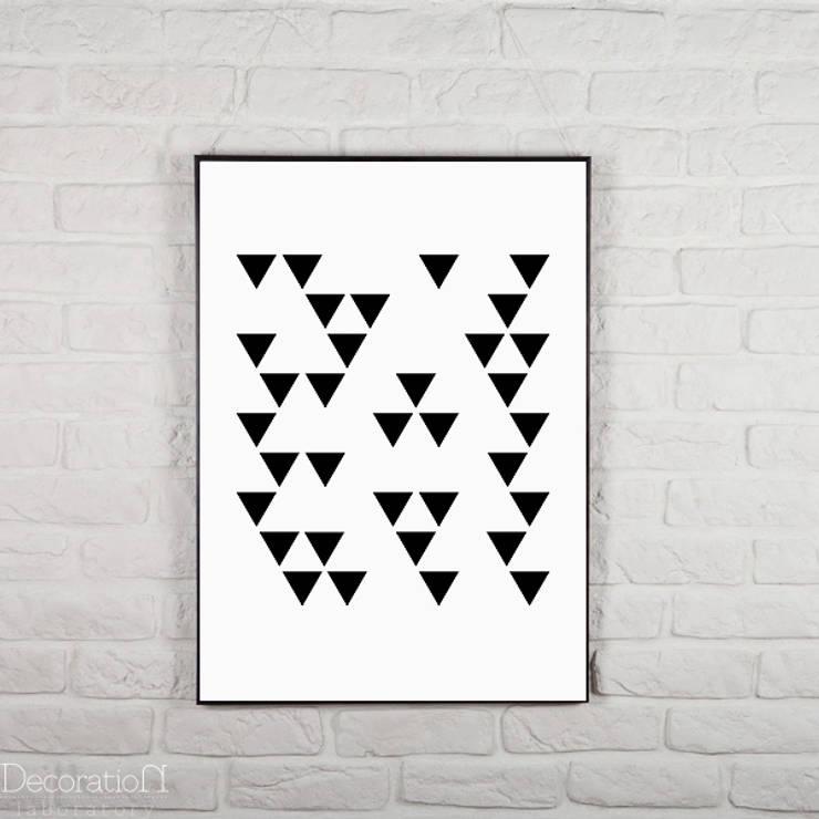 Trójkąty: styl , w kategorii Ściany i podłogi zaprojektowany przez Decoration Laboratory