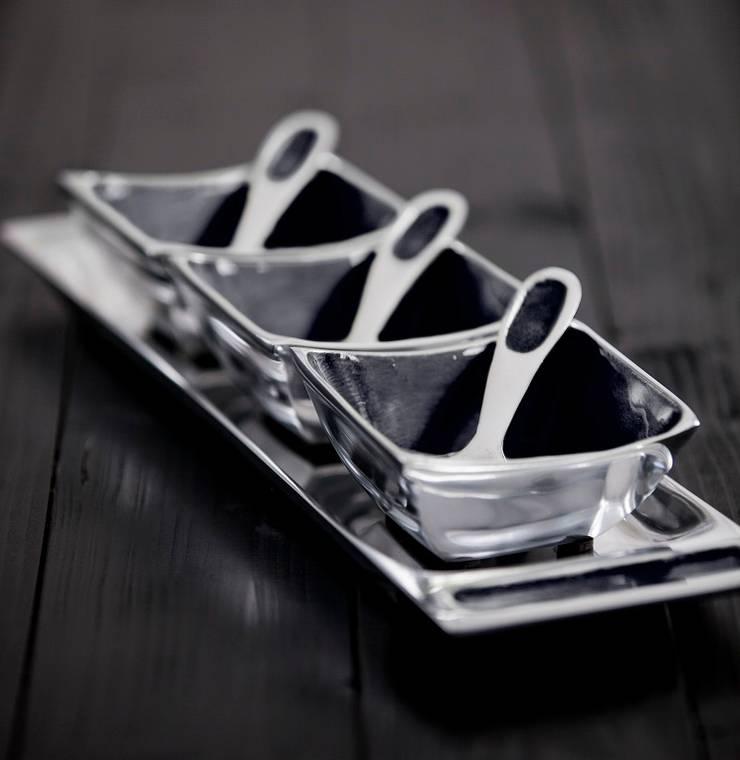 Large Grey Condiment Set: modern  by Oh So Pretty, Modern