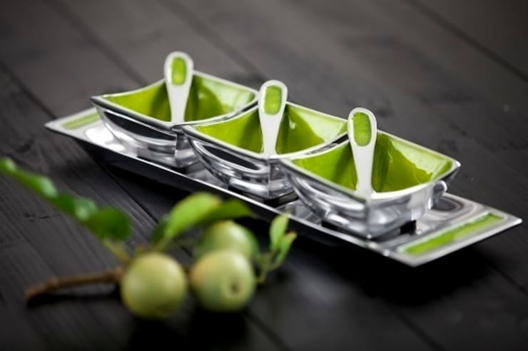 Large Lime Condiment Set: modern  by Oh So Pretty, Modern