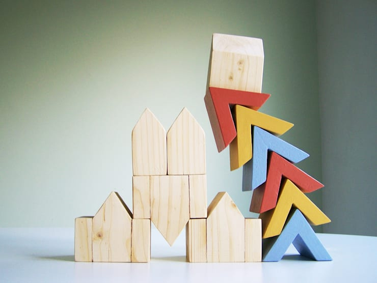 Puntdak speelvormen / Rooftop Playshapes: modern  door Stoerrr - Kids Concepts, Modern