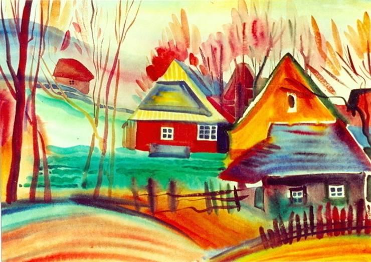 Акварель.Бумага. Горный пейзаж. Карпаты.: Произведения искусства в . Автор – KRAUKLIT VALERII