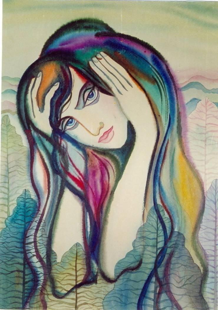 """Бумага. Акварель. """"Одиночество."""": Произведения искусства в . Автор – KRAUKLIT VALERII"""