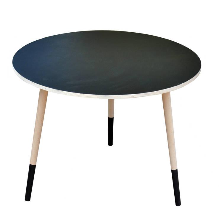 Coffee Table Black Board: styl , w kategorii Salon zaprojektowany przez Monkey Machine Magdalena Jasyk Bartczak