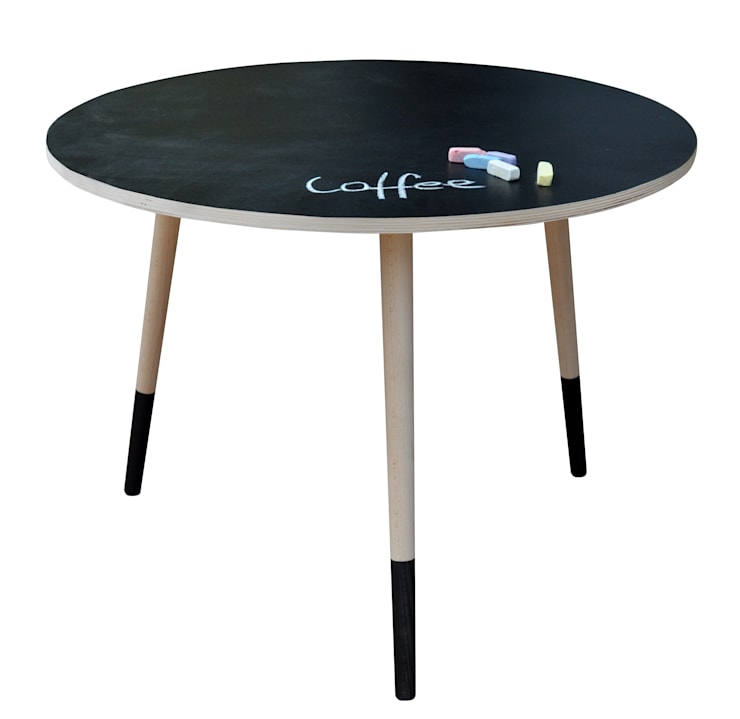 Coffee Table Black Board: styl , w kategorii Pokój dziecięcy zaprojektowany przez Monkey Machine Magdalena Jasyk Bartczak