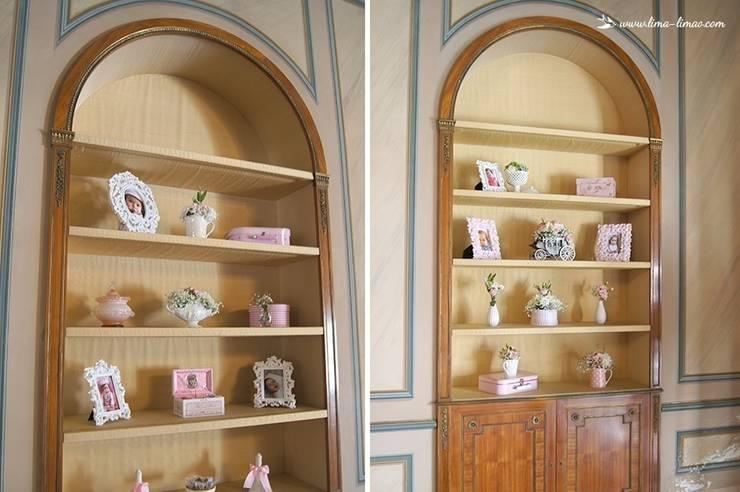 Decoração da sala no Palácio do Sobralinho: Sala de jantar  por Lima Limão-  Festas com charme