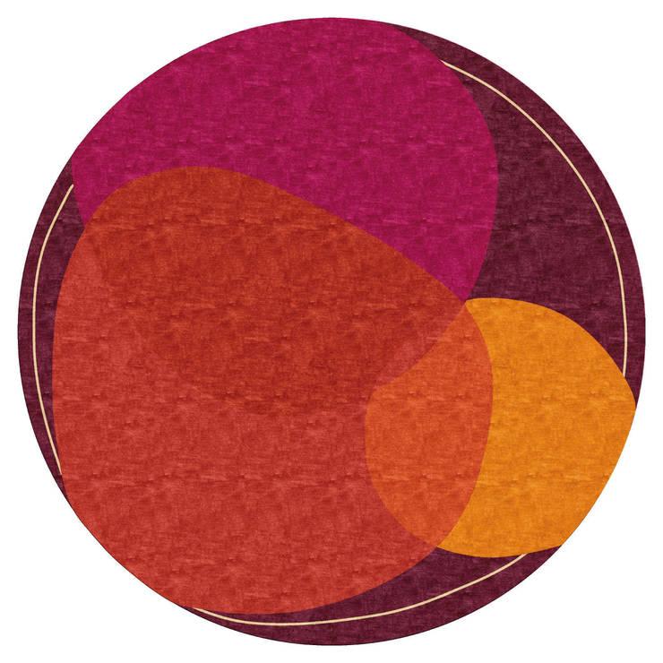Deirdre Dyson SPOT LIGHT hand knotted wool and silk rug: modern  by Deirdre Dyson LLP, Modern
