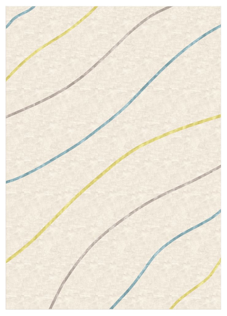 Deirdre Dyson SILK DIAGONALS hand knotted wool and silk rug: modern  by Deirdre Dyson LLP, Modern