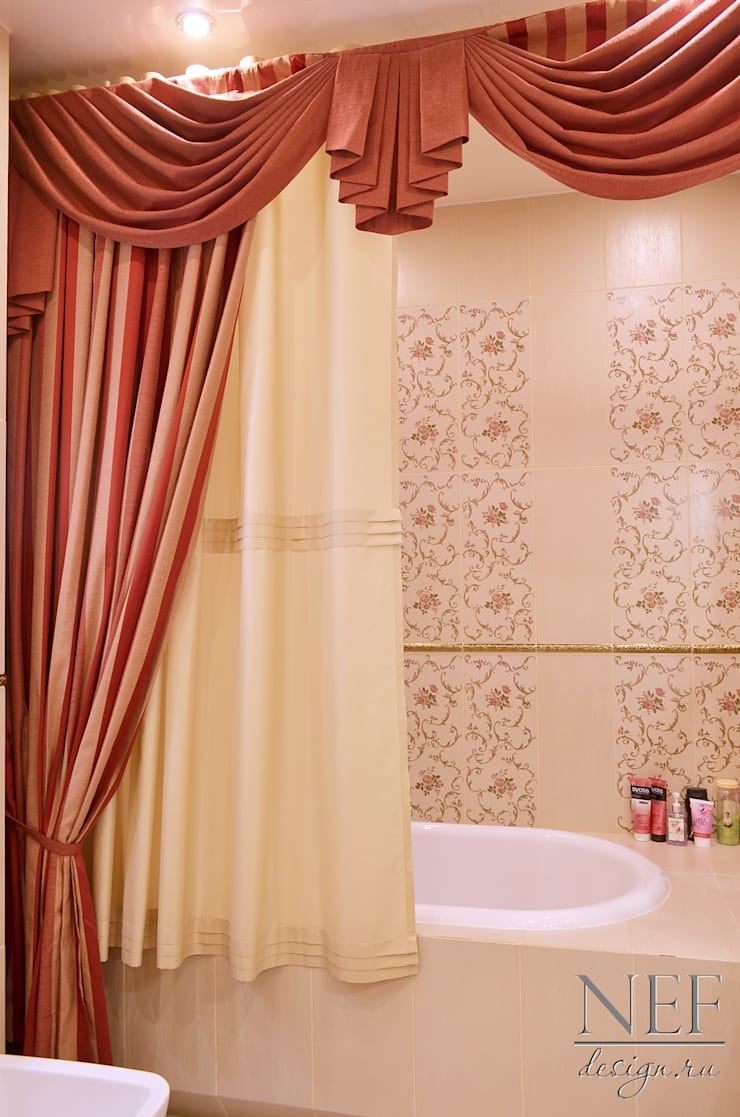 Квартира в классическом стиле с примесью кантри: Ванные комнаты в . Автор – Юлия Паршихина
