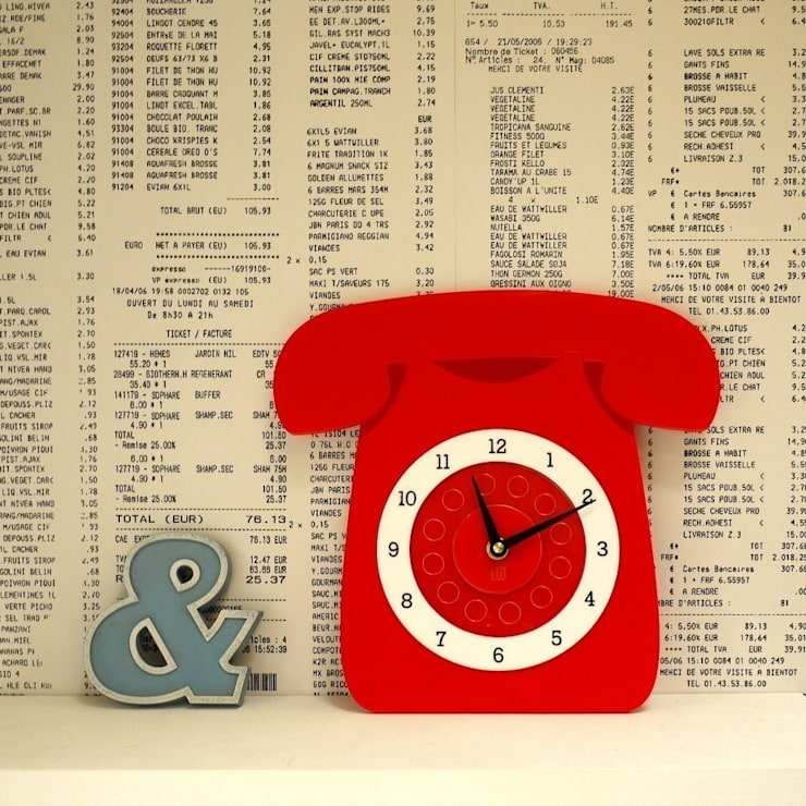 Red Call Me Clock: classic  by Hi! TIME, Classic