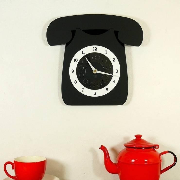 Black Call Me Clock: classic  by Hi! TIME, Classic