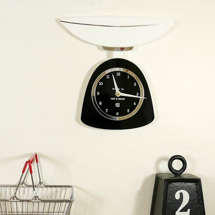 Black Weigth Watching Clock: classic  by Hi! TIME, Classic