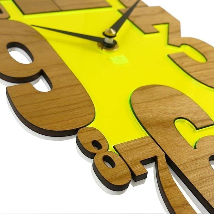 Yellow Countdown Clock: classic  by Hi! TIME, Classic