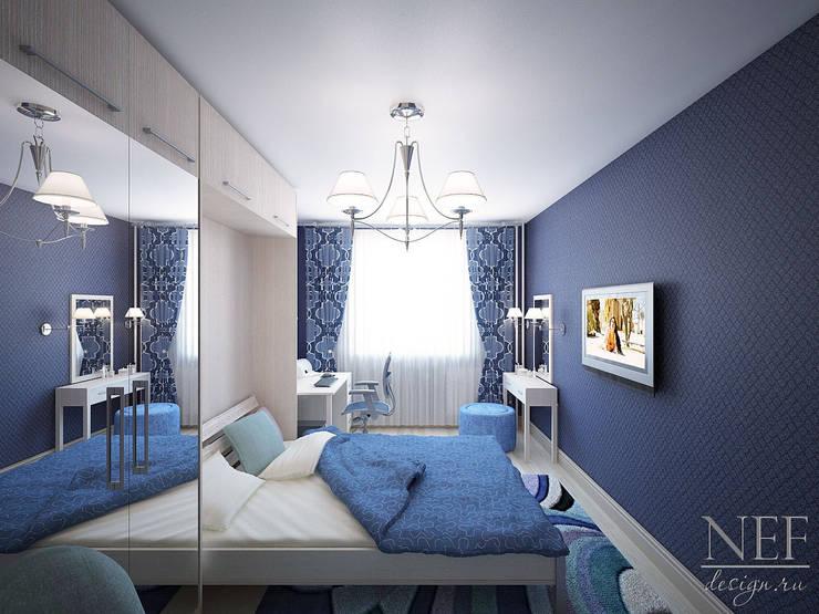 Квартира в современном стиле: Спальни в . Автор – Юлия Паршихина,