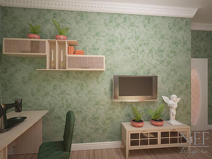 Коттедж в современном классическом стиле: Рабочие кабинеты в . Автор – Юлия Паршихина