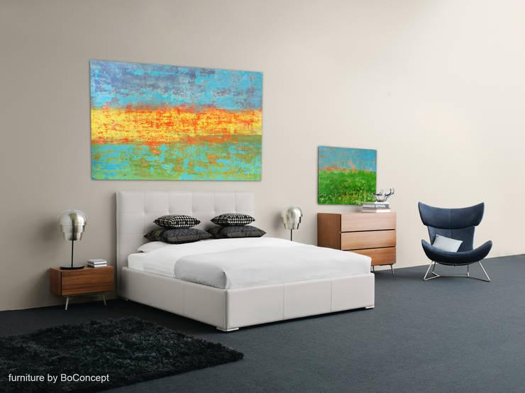 Richard Wurm - Großformatige Acrylbilder: moderne Schlafzimmer von Pablo & Paul
