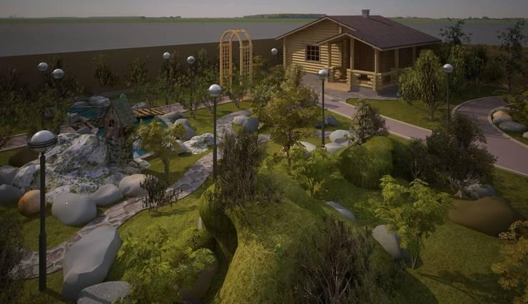 Ландшафтный проект - 30 соток:  в . Автор – Студия 'ART Story'