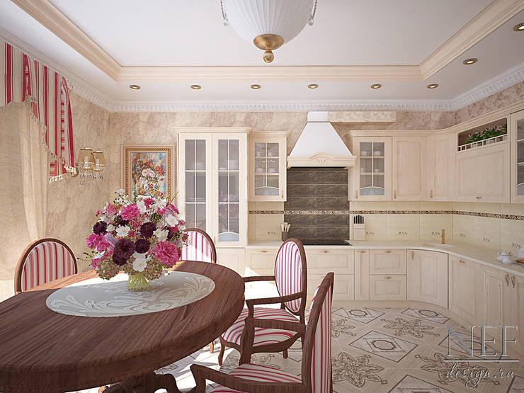 Коттедж в современном классическом стиле: Кухни в . Автор – Юлия Паршихина