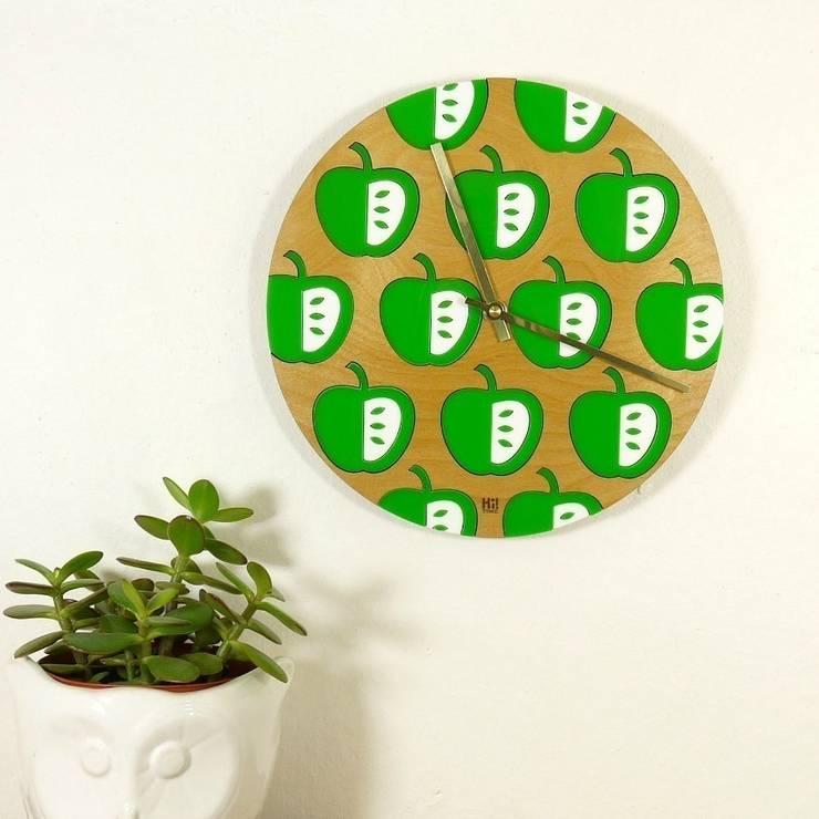 Green Vilda Clock: scandinavian  by Hi! TIME, Scandinavian