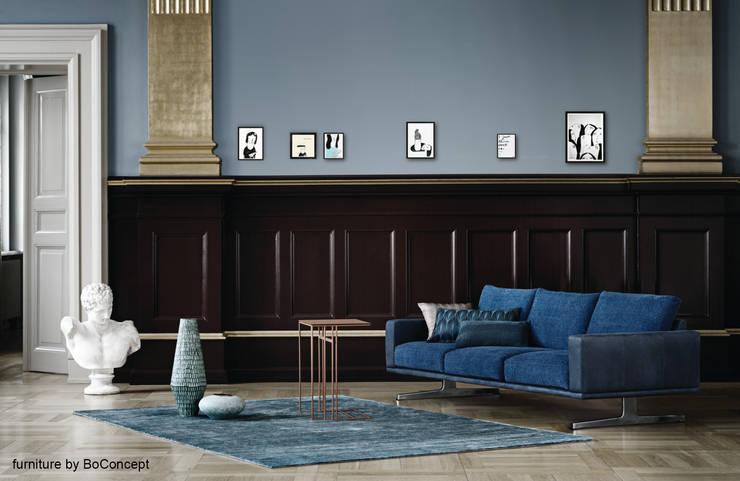 Zeichnungen von Aligna Vergnano:  Wohnzimmer von Pablo & Paul