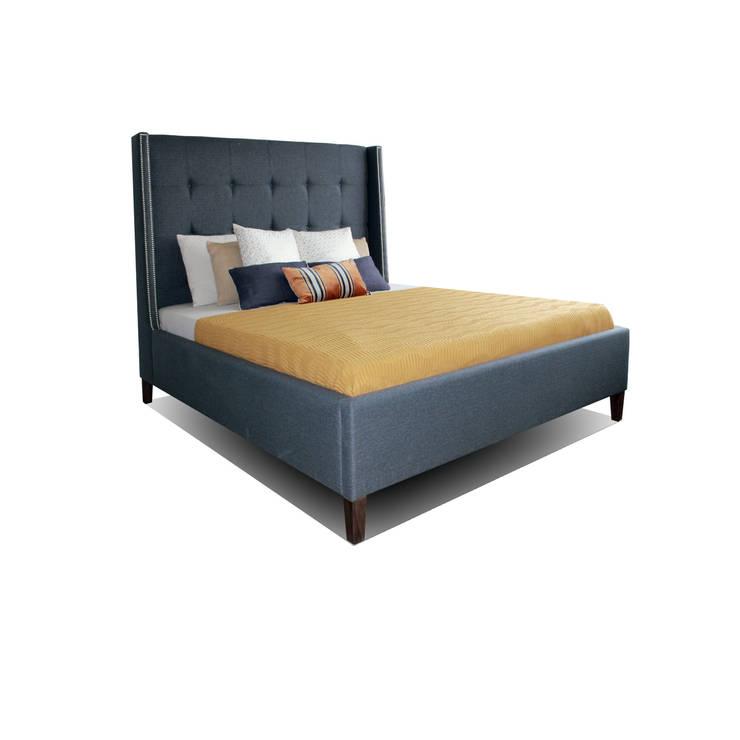 Кровать KAZA: Спальная комната  в . Автор – ROOMA Design & Furniture