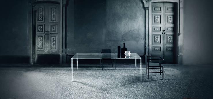 Luminous Glass Dining Table : modern  by Glassdomain, Modern
