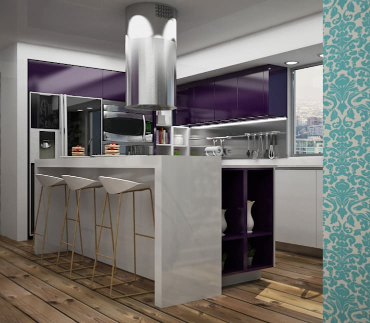 Kitchen by Citlali Villarreal Interiorismo & Diseño