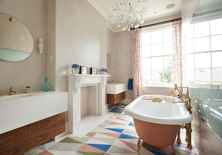 Drummond's Case Study: London Townhouse, Notting Hill: rustic Bathroom by Drummonds Bathrooms