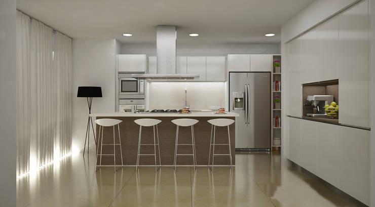 Cozinhas  por Citlali Villarreal Interiorismo & Diseño