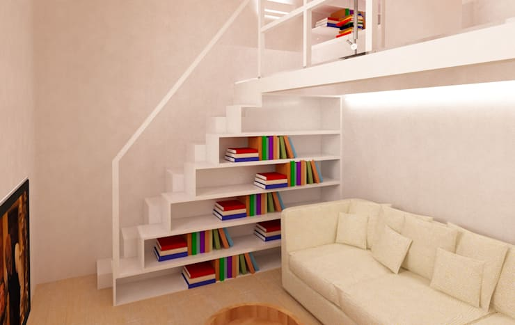 scala libreria: Ingresso & Corridoio in stile  di Azzurra Lorenzetto