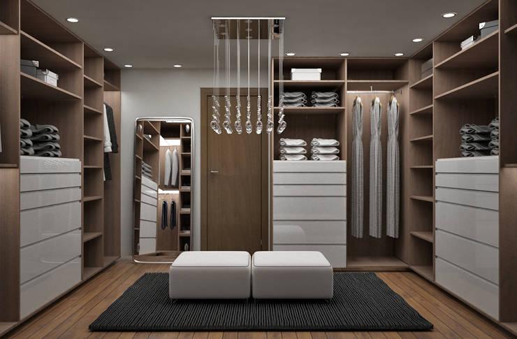 Projekty,  Garderoba zaprojektowane przez Citlali Villarreal Interiorismo & Diseño