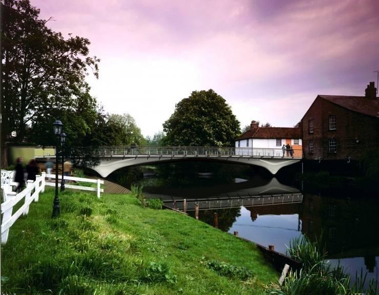 Ballingdon Bridge:  Terrace by reForm Architects, Modern