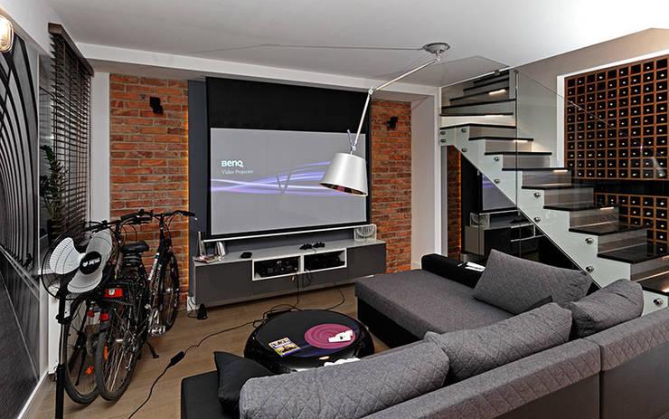 Rzutnik: styl , w kategorii Salon zaprojektowany przez RED design