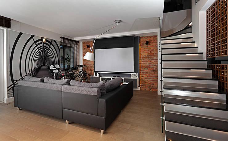 strefa relaksu: styl , w kategorii Salon zaprojektowany przez RED design,