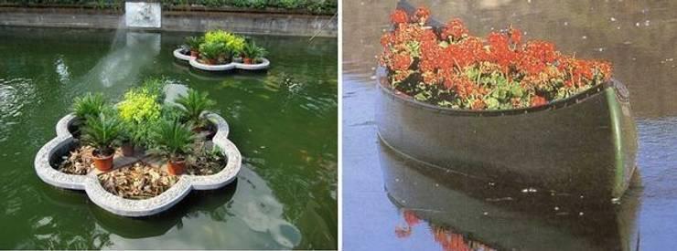 Ландшафтный дизайн - плавающие клумбы цветов:  в . Автор – Студия 'ART Story'