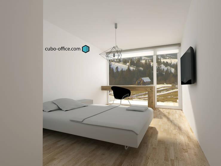 Vista interior: Hoteles de estilo  de CUBO Arquitectura y Diseño