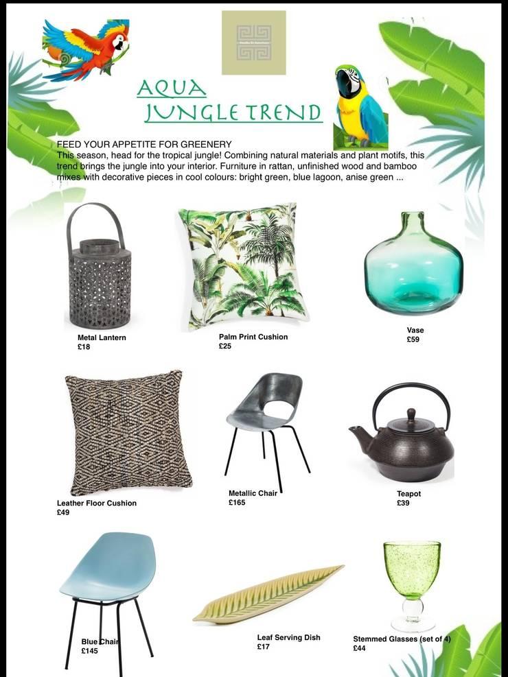 Aqua Jungle Trend : tropical  by Studio D. Interiors , Tropical