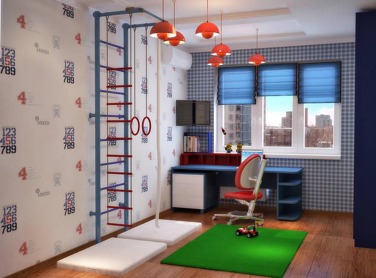 Спортивный интерьер детской комнаты : Детские комнаты в . Автор – Студия дизайна Interior Design IDEAS